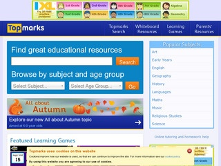 Topmarks Education: teaching resources, interactive resources, worksheets, homework, exam and revision help